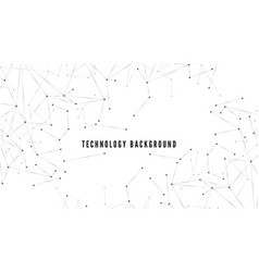 polygonal background technology or science design vector image