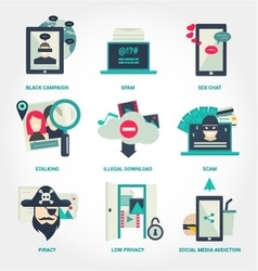 Popular internet activity flat icon vector