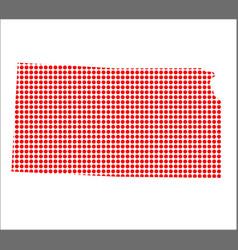 Red dot map of kansas vector