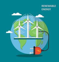 renewable wind energy concept flat vector image