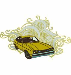 Retro car illustration vector