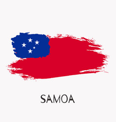 samoa watercolor national country flag icon vector image