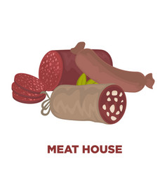 Sausages or wurst meat delicatessen vector