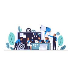 Scrum development agile board methodology vector