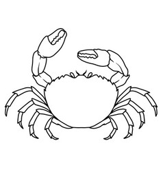 sea crab in line style design element for logo vector image