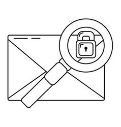 security system cartoon vector image