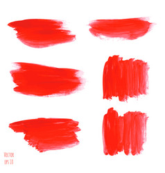 set of bloody red watercolor vector image