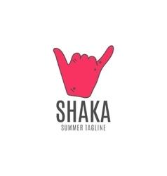 Shaka logo icon Surfing symbol Shaka logo vector image
