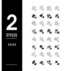 simple line icons seeds vector image