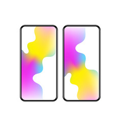 smartphone with colorful screen vector image