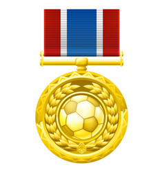 Soccer football medal vector