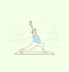 sport yoga pregnancy healthcare training vector image