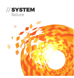 system failure background vector image