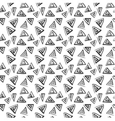 triangle doodle pattern on white background vector image