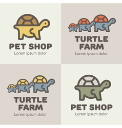 Turtles Logos vector image