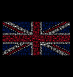 uk flag pattern of atom icons vector image