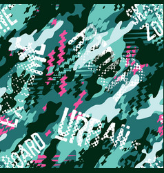 Urban rider abstract camouflage wallpaper vector