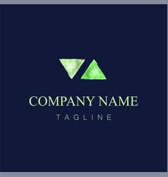 watercolor logo design21 vector image