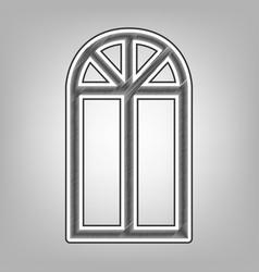 window simple sign pencil sketch vector image
