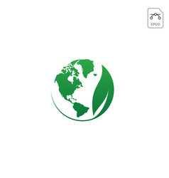 world earth globe nature logo icon isolated vector image