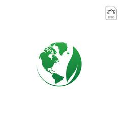 World earth globe nature logo icon isolated vector