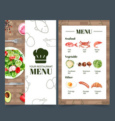 World food day menu collection for restaurant vector