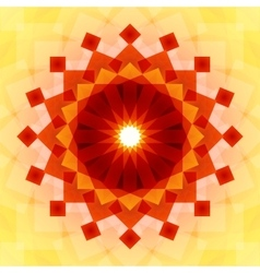 Yellow orange and red blended transparent vector