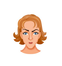 young woman head vector image