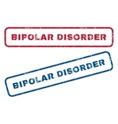 Bipolar disorder rubber stamps vector