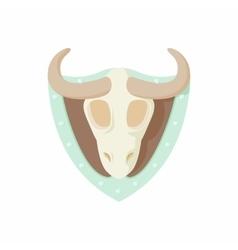 Stuffed bull icon cartoon style vector image vector image
