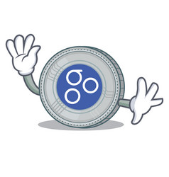waving omesigo coin character cartoon vector image