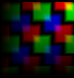 blurred background of the squares on the neon vector image