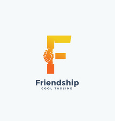 Friendship abstract sign symbol or logo vector