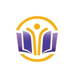 School logo design template vector image