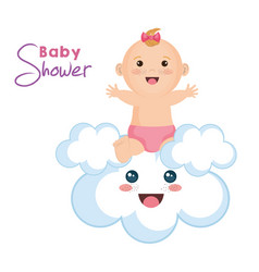 baby and cloud design vector image vector image