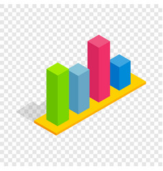 chart in columns isometric icon vector image