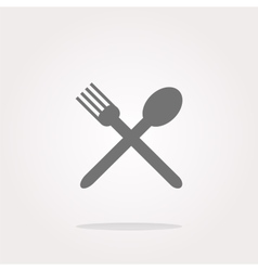 fork and spoon Eat sign icon Cutlery etiquette vector image