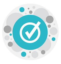 of web symbol on check icon vector image