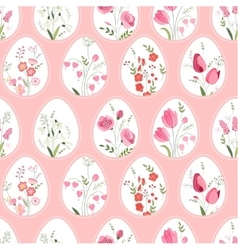 Seamless pattern with stylized eggs and spring vector image vector image