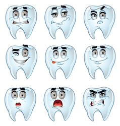 Teeth smiles vector image