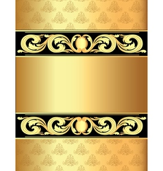 Vintage Golden Frame Background vector image