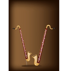 A Musical Bass Clarinet on Dark Brown Background vector image vector image