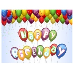 Birthday background with colorful vector image