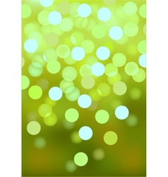 Green festive lights background vector image vector image