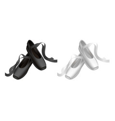 realistic detailed ballet black and white pointe vector image