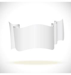 white banner attention enfolded back for business vector image