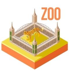 Zoo Leopard isometric icon vector image