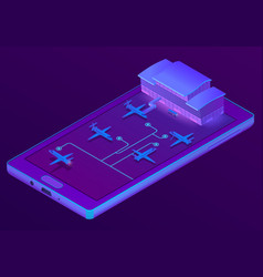3d isometric smartphone - booking of vector image