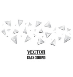 Abstract 3d triangle background vector