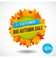 Autumn Sale Discount Logo or Emblem vector